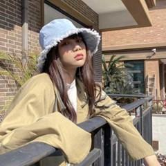 Mujer verano daily  데님 청 벙거지모자 2color