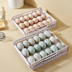 PH 적층형 계란보관용기 슬라이딩 에그트레이 18구