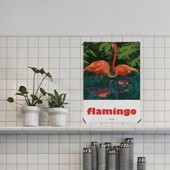 플라밍고2 M 유니크 인테리어 디자인 포스터 동물 회화