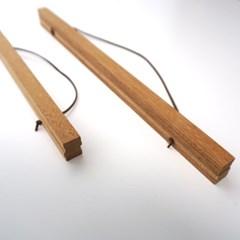 행잉우드 프레임 나무 족자 벽걸이 액자30cm, 40cm