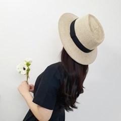 기본 심플 검정띠 챙넓은 패션 중절모 페도라 모자
