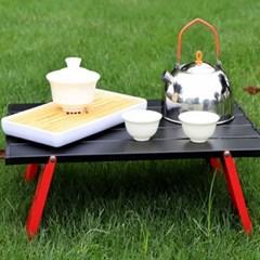 야외용 5단 접이식 소형 미니 캠핑 테이블