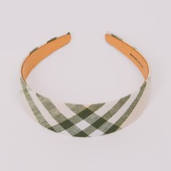 UD Wide Hairband Check Green