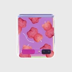 Little fire covy pink pattern-clear(Z플립-투명)_(1890572)
