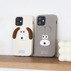 Brunch Brother 버니,퍼피 실리콘 케이스 for iphone12 mini