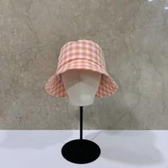 체크 챙넓은 데일리 패션 꾸안꾸 버킷햇 벙거지 모자