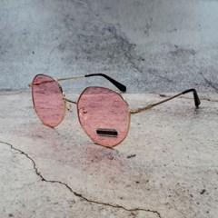 가벼운 도수없는 블랙 핑크 패션 데일리 선글라스