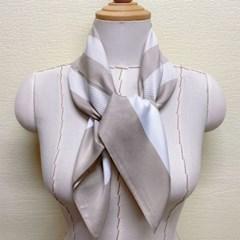 줄무늬 단가라 실크 가방 승무원 데일리 패션 스카프