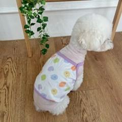 러블리댕댕 강아지 오가닉 양 크롭티