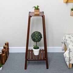 대나무 2단 화분진열대/인테리어 받침대 화분 정리대