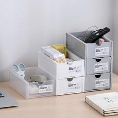 나만의조합 멀티박스 미니서랍 투명서랍 수납정리함 책상정리 3color