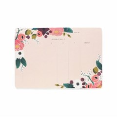 Pink Floral Weekly Desk Pad 위클리 플래너