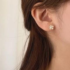 [귀찌가능] 미니사이즈 딱붙는 웨딩 촬영 꽃 봄 귀걸이