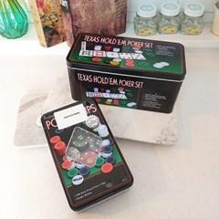 포커놀이 카지노칩 보드게임 홀덤 칩 세트 케이스 게임용품