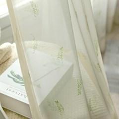 네이쳐 쉬폰 나비주름 커튼 (커튼핀 포함)