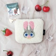토끼여우 뽀글이 사각 미니 파우치 동전지갑 JA