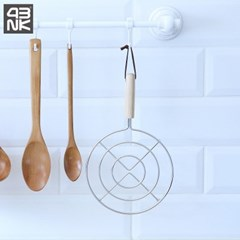 4bnk 프라임 우드 손잡이 원형 냄비받침대