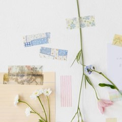 Vintage Fabric Masking Tape [Forget-me-not]