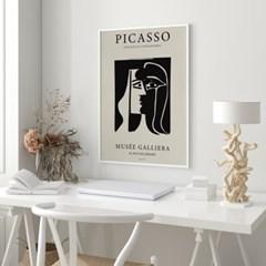 전시회 포스터 그림 액자 피카소 키스