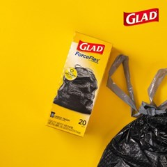 글래드 쓰레기봉투 트래시백 라지 20매입 재활용봉투