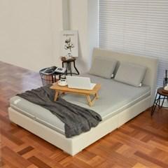 스너그홈 그레이 천연 라텍스 침대 매트리스 15cm S