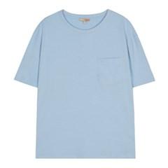 포켓 솔리드 반팔 티셔츠 SPRWA24G18