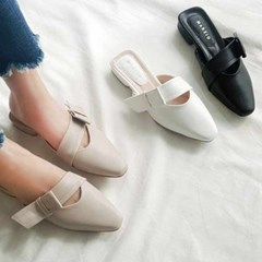 kami et muse Tied ribbon mule slippers_KM21s112