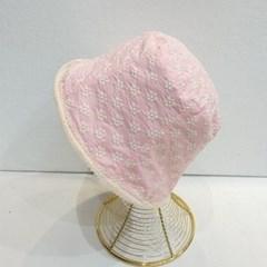 플라워 꽃무늬 레이스 챙넓은 버킷햇 벙거지 모자