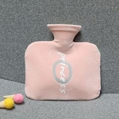 레터링 보온 물주머니(800ml) (핑크)/ 겨울 보온팩