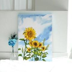 해바라기 캔버스 거실 홈 벽 수채화 꽃 그림  두꺼비집가리개