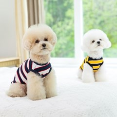 [펫츠랜드] 강아지옷 강아지 봄옷 단가라 봉봉 민소매 티셔츠