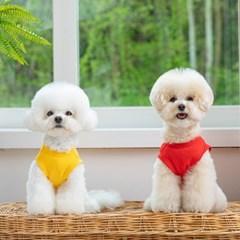 [펫츠랜드] 강아지옷 예쁜 민소매 여름강아지옷 팝컬러 민소매
