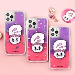 에스더버니 정품 네온 샌드 형광 아쿠아 케이스+블링톡 세트
