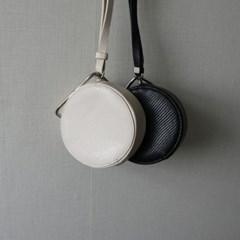 메탈 링 미니 탬버린백 숄더백 (2color)