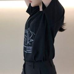 벤자민 드로잉 일러스트 레터링 티셔츠