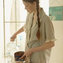 [울랄라파자마] 앤의 쿠키 반팔 여성페어 바이올렛