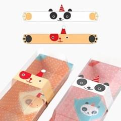 샌드위치 띠 스티커 (팬더+강아지)x2장_(2082960)