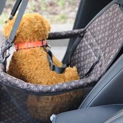 반려동물 차량용 안전카시트 핑크 매트 강아지방석 펫시