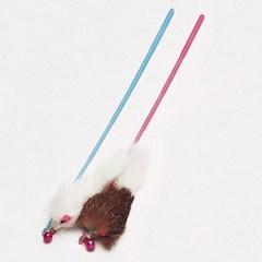 토끼털 고양이 막대 장난감 색상랜덤
