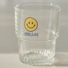 스마일 플리츠 유리컵