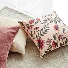 [모던하우스] 사라사 쿠션커버 핑크 50x50