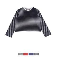 크롭 스트라이프 티셔츠_SPLS937G11