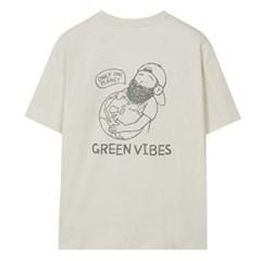 [에코] 심플 드로잉 반팔 티셔츠 SPRPA24C12