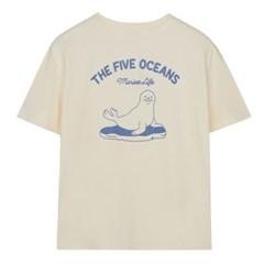 [에코] 해양동물 그래픽 반팔 티셔츠 SPRPA24G25