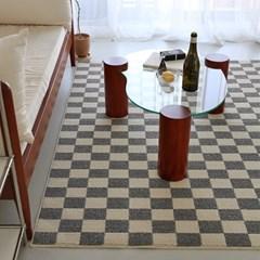 체커보드 터프팅 사이잘룩 사계절 러그 - 5size