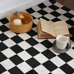 체커보드 극세사 단모 사계절 러그- 2color
