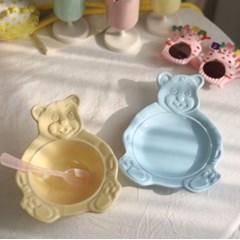 마이테디 파스텔 곰돌이 볼 그릇 접시 4color R
