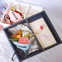 미니 프리저브드 돈꽃다발 카네이션 플라워용돈박스 조화꽃