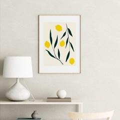 레몬트리 일러스트 그림 액자 포스터
