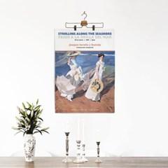 패브릭 포스터 바다 해변 산책 명화 그림 액자 호아킨 소로야 1
